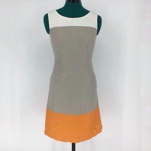Banana Republic Petite Colour Block Linen Dress, 2